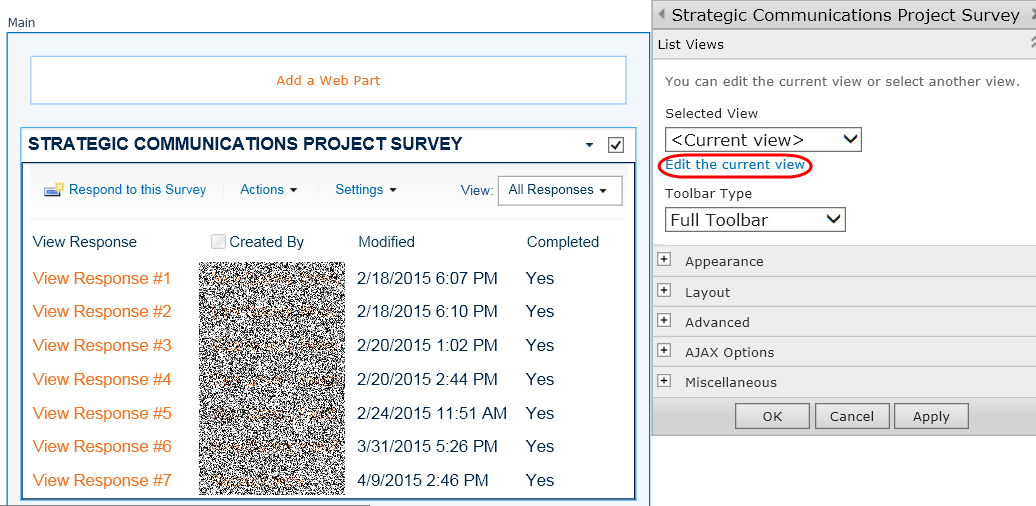 how to create a survey in sharepoint